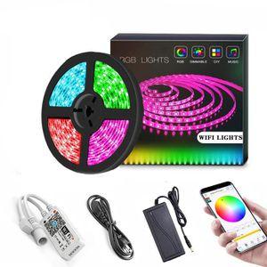 BANDE - RUBAN LED Molyqiu® Ruban à Led Connectée WiFi 15M 450 LEDs 5