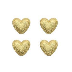 5 Cadres de perles Dorés Coeur 20x17mm SC0099383