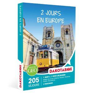 COFFRET SÉJOUR Coffret Cadeau - 2 Jours en Europe - Dakotabox