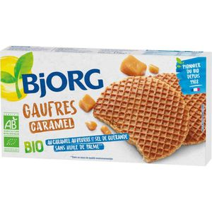 BRIOCHE CRÊPE GAUFRE BJORG Gaufres au Caramel Bio 175g