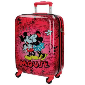 VALISE - BAGAGE Valise Cabine rigide 4 roues MICKEY MOUSE Rouge 55