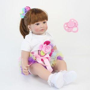 POUPÉE 60 cm Silicone Reborn Bébé Poupée Jouets Comme Rée