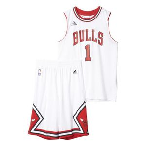 Junior Et Blanc Chicago Derrick Adidas Maillot Short Bulls Nba Rose fOCqC1w