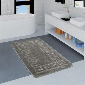 Tapis de bain antiderapant gris