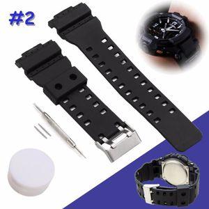 Bracelet Montre Résine 16mm Compatible Casio G-Shock Noir