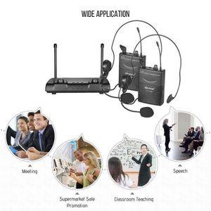 MICROPHONE MICPOW W-10 VHF Microphone sans fil à deux canaux