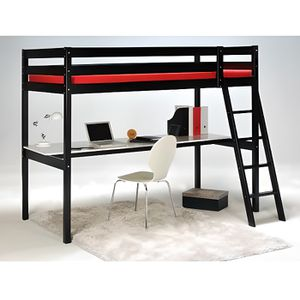 lit mezzanine achat vente lit mezzanine pas cher cdiscount. Black Bedroom Furniture Sets. Home Design Ideas