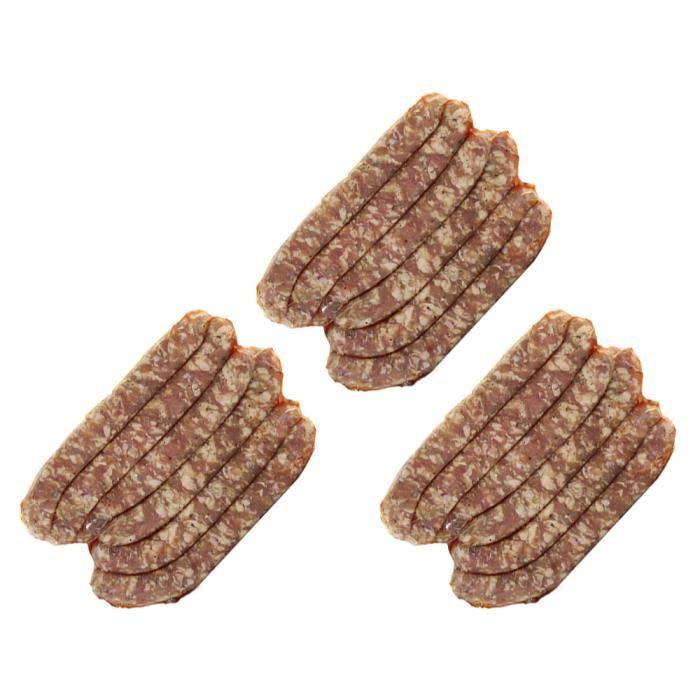 Chipolatas de Veau aux Herbes de Provence - Lots de 3 × 6 Chipos de veau origine France