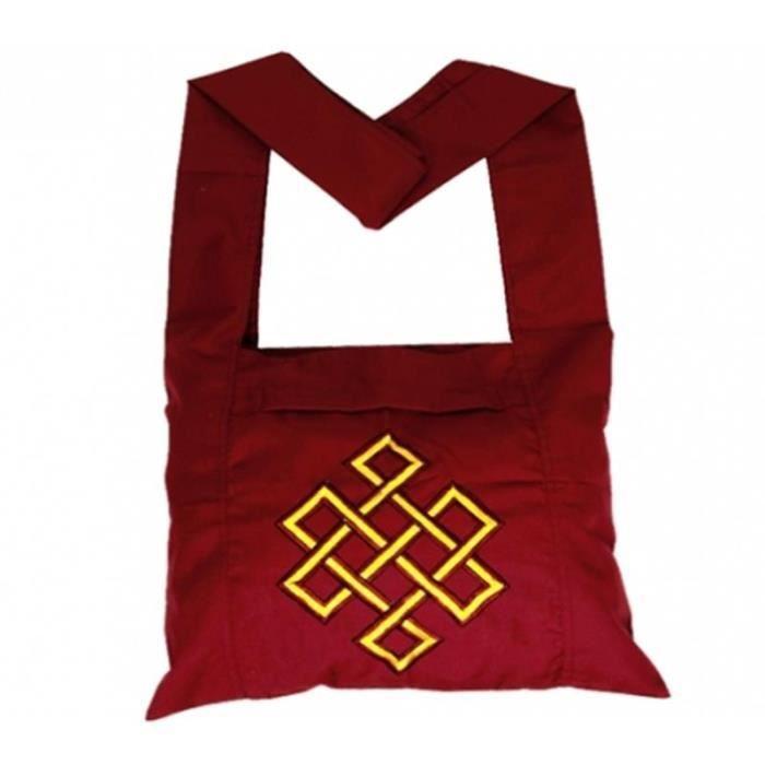 Sac de moine tibétain Bordeaux et zafu de voyage Noir