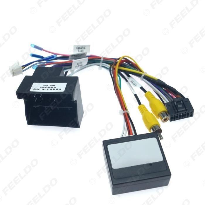 Câble de démarrage,FEELDO câblage stéréo à 16 broches, 1 pièce, pour voiture Peugeot 3008-2008-citroën - Type AB cable -canbus box