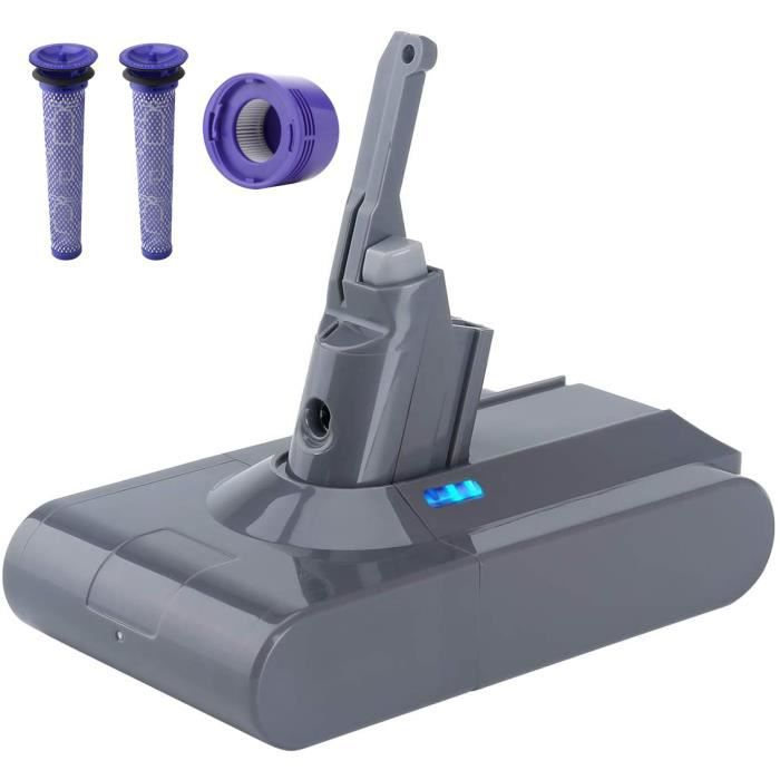 Batterie Pour Dyson V8 Absolute Cord-Free Vacuum Cleaner 4500mAh 21.6V + 3 Filtres