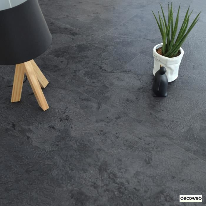 Dalles sol PVC - Click à plat - Ardoise Naturelle (1,49 m²)