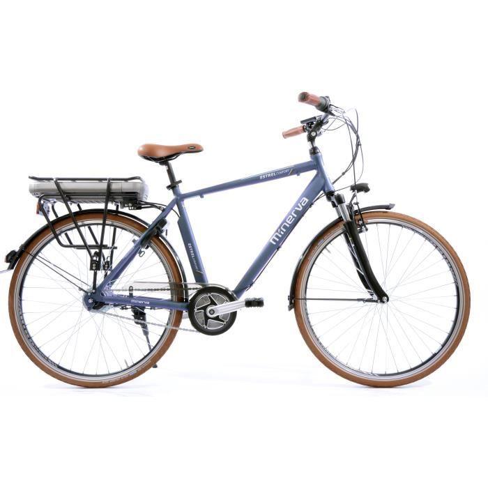 Vélo Estrel - Assistance électrique - Roues 28- - MINERVA - Homme - Bleu