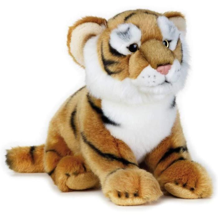 National Geographic tigre en peluche junior 36 cm en peluche marron/blanc