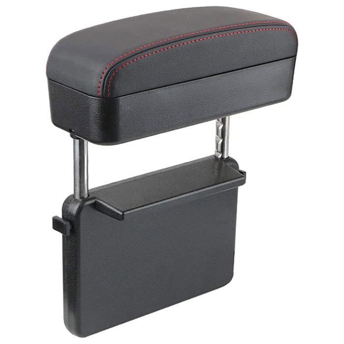 Boîte de rangement télescopique automatique de la boîte à bras multifonction automobile [Ligne rouge noire] [Sac d'OPP]