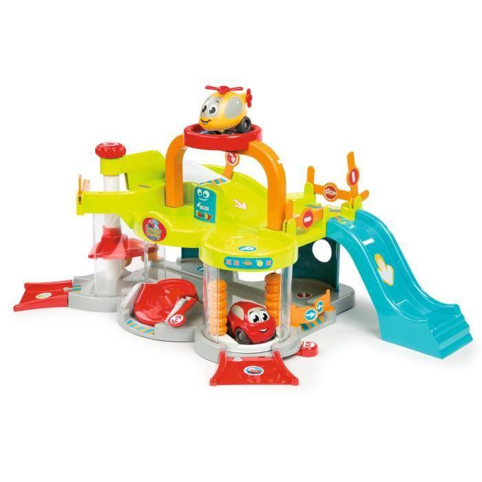 Smoby Toys - 120402 - Vroom Planet, Premier Garage, + 1 Voiture Et + 1 Hélicoptère Inclus EYI87