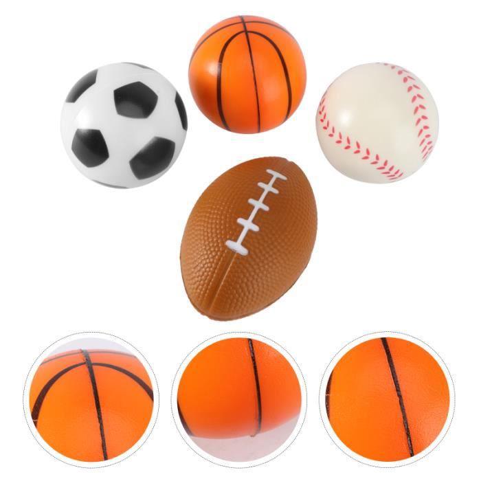 4pcs mini balles de sport anti-stress favorisent les jouets pour enfants soulagement du stress parti (1 pc MINI CAGE - MINI BUT