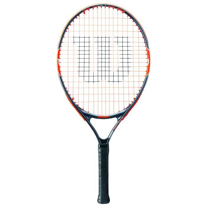 Wilson Raquette de Tennis pour Enfants, Burn Team 23, Taille 7-8 Ans, Orange-Gris, WRT209700