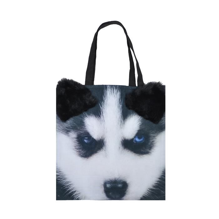 Sac 3d Courses Cm Huskies Main Imprimé 40x40 De À Animal Shopping qORwHS