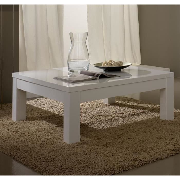 table basse carr e ou rectangulaire blanc laqu design malvina carr e achat vente table. Black Bedroom Furniture Sets. Home Design Ideas