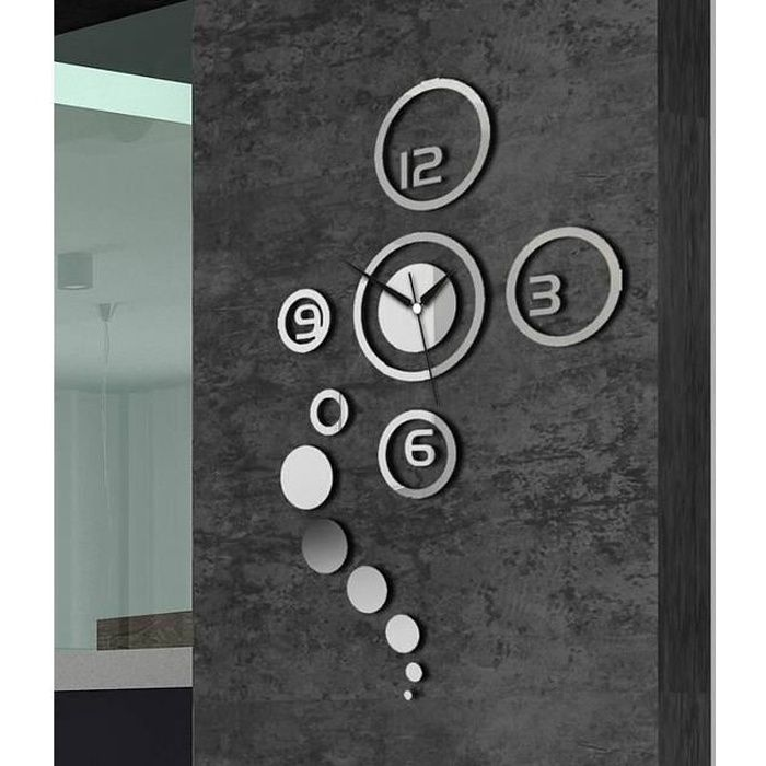 horloge design mural achat vente horloge pendule cdiscount. Black Bedroom Furniture Sets. Home Design Ideas