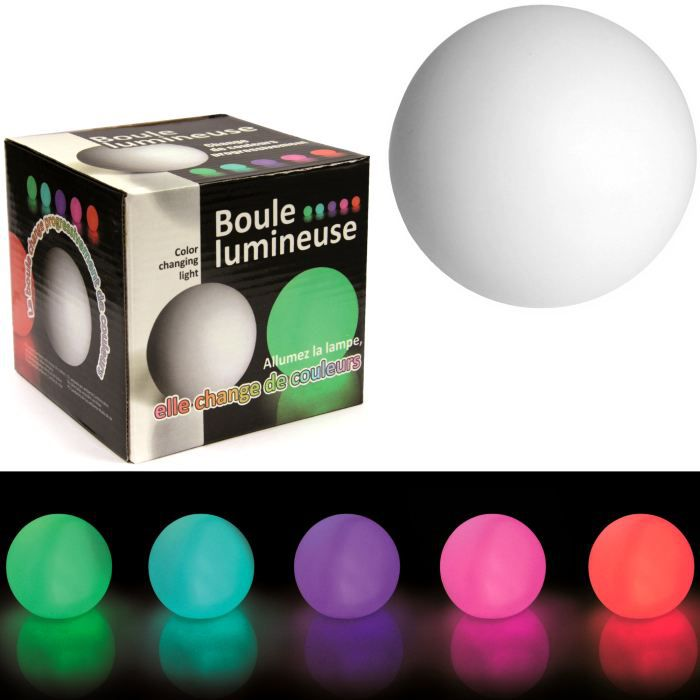 lampe design boule lumineuse led couleurs chang achat vente lampe design boule lumineus. Black Bedroom Furniture Sets. Home Design Ideas