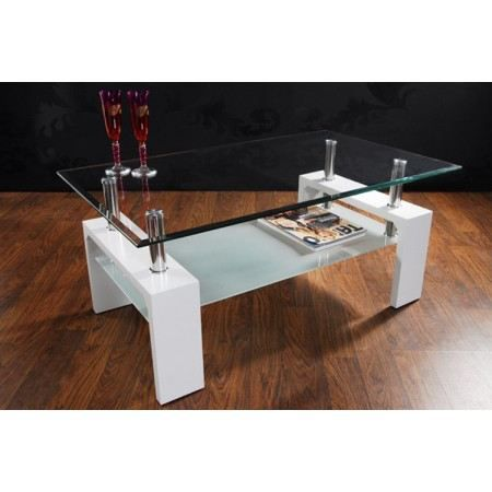 Table basse design arcadya laqu blanc achat vente table basse table bass - Table basse blanc design ...