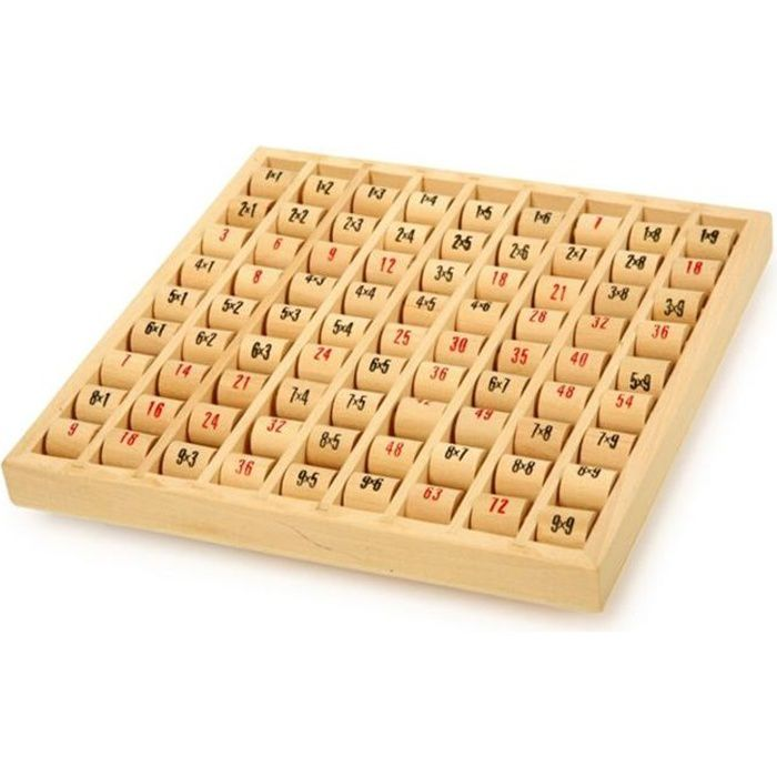 Table de multiplication en bois achat vente jeu for Table de multiplication de 2 a 9