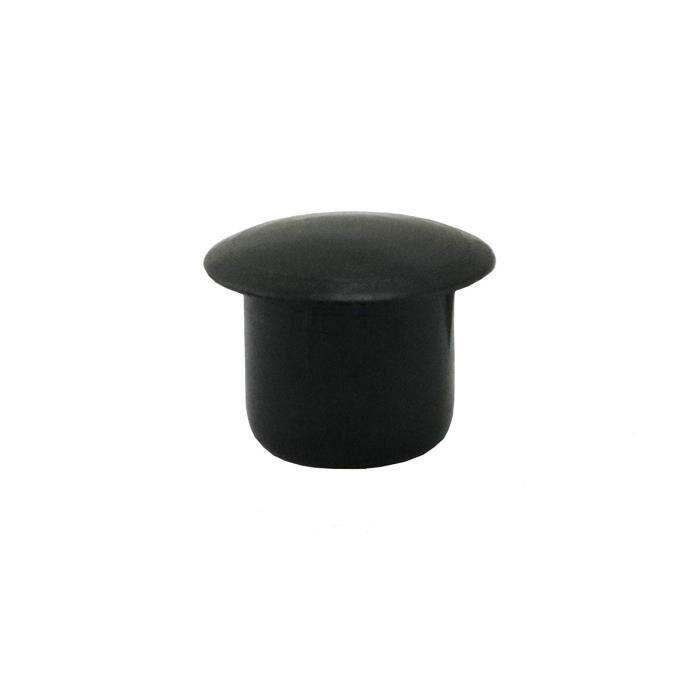 VIS - CACHE-VIS 50bouchons Cache-trou 10mm IROX Noir Plastique T
