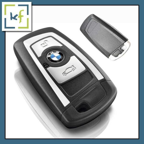 COQUE Clé BOITIER Télécommande 3 Boutons BMW F10 F20 F30 F40 3 4 5 GT X1 X3 bleu