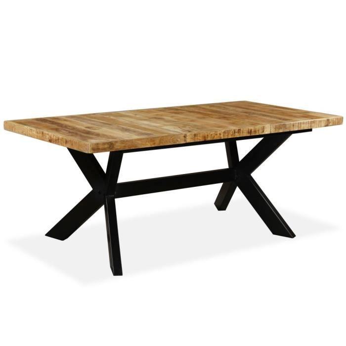 Table A Manger Bois Massif Achat Vente Table A Manger Bois