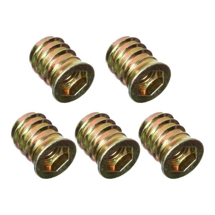 Sourcingmap/® Bois M8/x 25/mm Hex Socket Vis en fil Zingu/é Insert Nut 10/pcs
