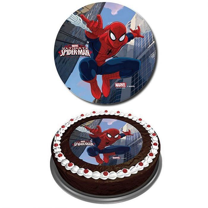 disque azyme sucre spiderman decoration gateau achat vente figurine d cor g teau cdiscount. Black Bedroom Furniture Sets. Home Design Ideas