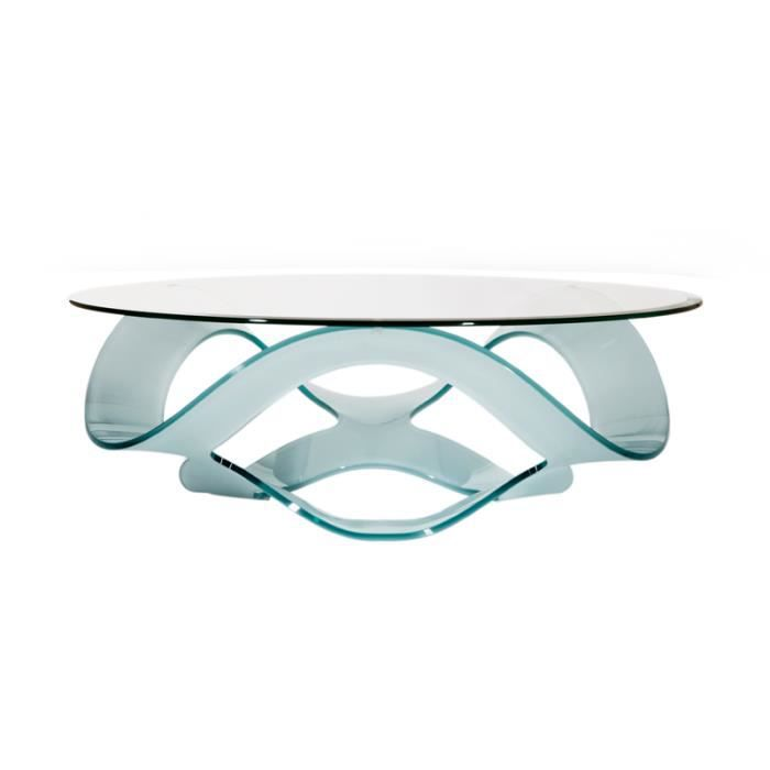 Table basse marabella verre tremp achat vente table basse table basse ma - Table basse en verre courbe ...