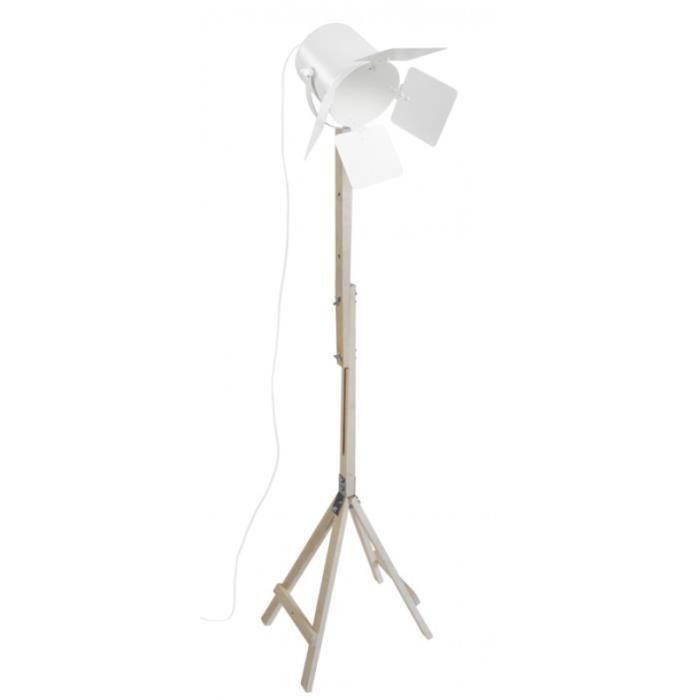 LAMPADAIRE BOLLYWOOD,  95292; Naturel-Blanc  _ Luminaire, Lam