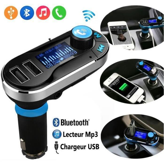kit main libre voiture connexion bluetooth et chargeur dual usb smartphone achat vente kit. Black Bedroom Furniture Sets. Home Design Ideas
