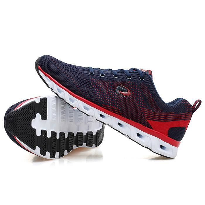 619-Rouge-44 ChaussuresDe LuxeSuperstar Baskets respirantantDe Course Sport Masculin Sneakers Hommes Gym Entraî