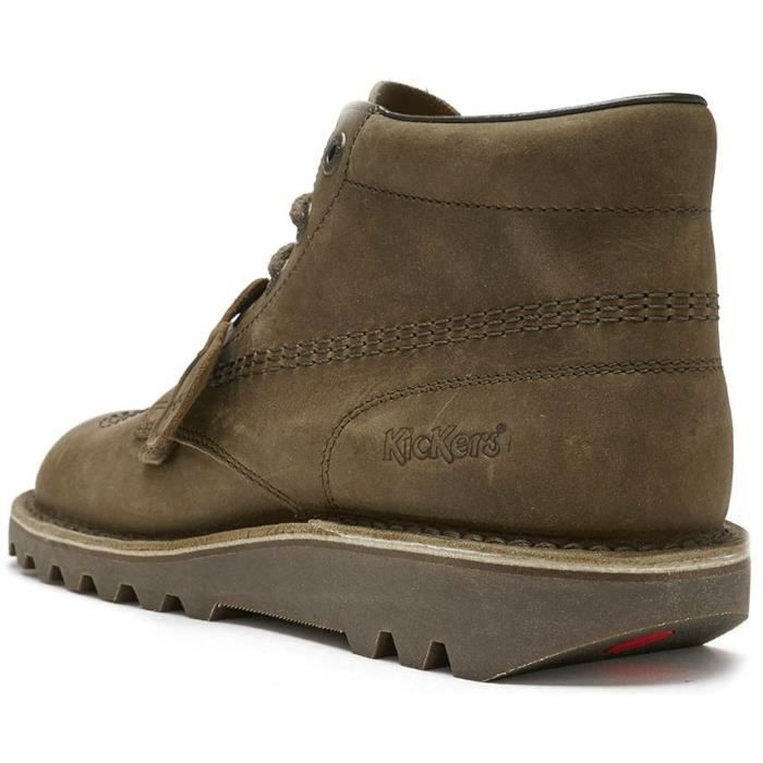 Kickers Kick Hi Top Cuir Bottes en Beige 114932 [UK 10.5EU 45]
