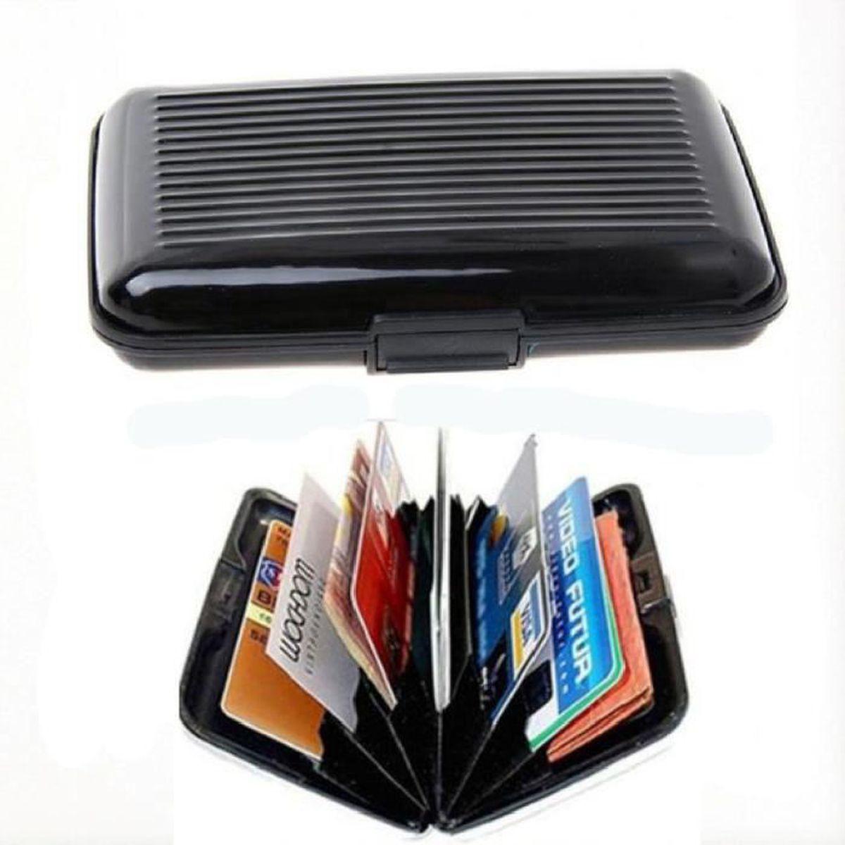 etui carte bancaire rigide Etui carte de credit Boite Porte Carte portefeuille rigide de
