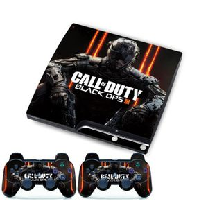 STICKER - SKIN CONSOLE BLACK OPS III Pour SONY PlayStation 3 Slim Console