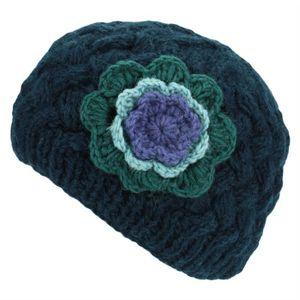 BONNET - CAGOULE LoudElephant femmes  Bonnet avec contraste Fleur -