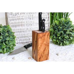 RAMEQUIN - RAVIER la conception de blocs de couteaux en bois d'olivi
