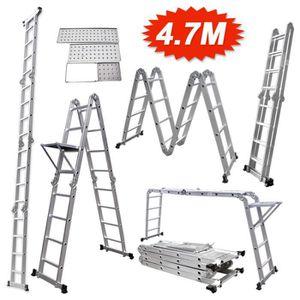 ECHELLE Échelle multifonction pliable 4.70 mètres