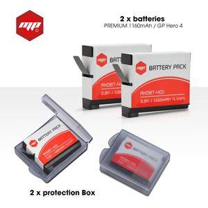 BATTERIE APPAREIL PHOTO 2 x batteries pour GoPro hero 4 - MP EXTRA®