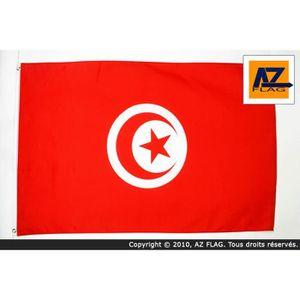 DRAPEAU - BANDEROLE Drapeau Tunisie 150x90cm - tunisien Haute qualité