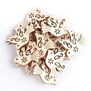 10 x chevilles en bois cœur naturel embellissement craft cardmaking