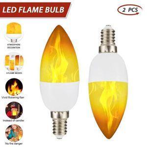 AMPOULE - LED Lampe flamme LED Candlestick ampoule avec le mode