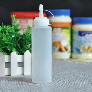 BEURRIER - HUILIER  2 pcs Blanc 240 ml Cuisine Ketchup Distributeur Tr