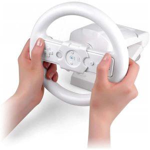 Jeu de Course de Haute Performance Volants de Direction Poign/ée de Volant de Course Poign/ée Adapt/é pour Wii Mario Kart Blanc Couleur: Blanc