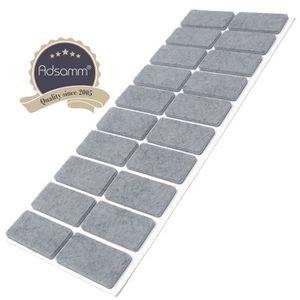 PATIN - EMBOUT 20 x patins en feutre | 20x40 mm | gris | rectangu
